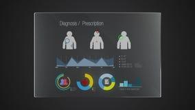Uso gráfico del indicador digital de la interfaz de usuario de la 'diagnosis' del panel de la tecnología de la información (alfa  ilustración del vector