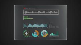 Uso gráfico del indicador digital de la interfaz de usuario de la 'grabación' del panel de la tecnología de la información stock de ilustración
