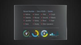 Uso gráfico del indicador digital de la interfaz de usuario del 'historial médico' del panel de la tecnología de la información libre illustration