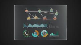 Uso gráfico del indicador digital de la interfaz de usuario del 'teléfono' del panel de la tecnología de la información libre illustration