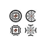 uso multi del logotipo de la telaraña del café Fotografía de archivo libre de regalías