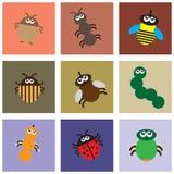 Uso primitivo de insectos ilustración del vector
