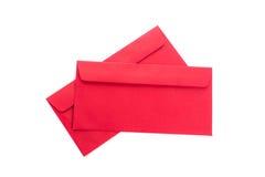 Uso rojo del sobre en festival chino del Año Nuevo en blanco Foto de archivo libre de regalías