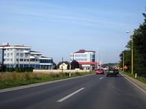Usora, cidade pequena em Bósnia central Fotografia de Stock Royalty Free