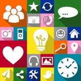Usos de los iconos Imágenes de archivo libres de regalías