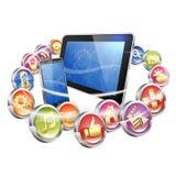 Usos para las plataformas móviles Foto de archivo libre de regalías