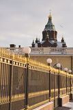 Uspensk-Kathedrale Helsinki Stockfotografie
