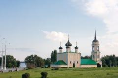 Uspenskayakerk in Voronezh, Rusland royalty-vrije stock fotografie