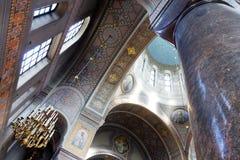 uspenski大教堂内部在赫尔辛基 免版税库存图片