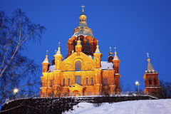 Uspenski大教堂在赫尔辛基 免版税库存图片