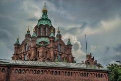 Uspenski大教堂在赫尔辛基 库存图片