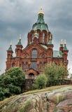 Uspenski大教堂在赫尔辛基 免版税库存照片