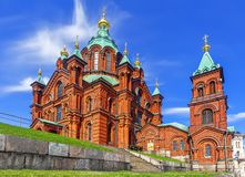Uspenski正统大教堂 Hilsinki 芬兰 免版税图库摄影