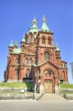 Uspenski正统大教堂,在赫尔辛基,芬兰。 库存图片