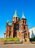 Uspenski Cathedral, an Eastern Orthodox cathedral in Helsinki -. Finland royalty free stock photos