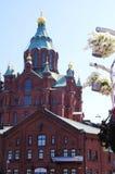 Uspenski cathedral Finland Stock Image