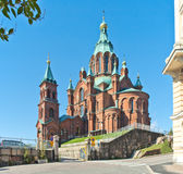 Uspenski Cathedral in Helsinki Royalty Free Stock Photo