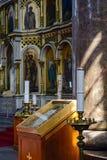 Uspenski Cathedral in Helsinki. Detail of the richly decorated interior of the Uspenski Cathedral in Helsinki Stock Photo
