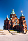 Uspenski Cathedral in Helsinki, Finland. A photo of Uspenski Cathedral in the centre of Helsinki, the capital of Finland. Uspenski Cathedral was built in the Stock Image