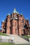Uspenski Cathedral, Helsinki Finland. Uspenski Cathedral, built in the Russian Byzantine style in 1862-1868, is the biggest Orthodox church in western Europe Royalty Free Stock Photo