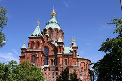 Finland/Helsinki: Uspenski Cathedral Stock Images