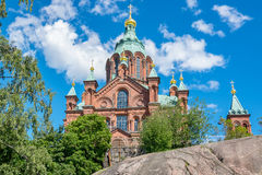 Uspenski Cathedral. Helsinki, Finland Royalty Free Stock Photos