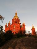 Uspenski cathedral. The red dominant of Helsinki Royalty Free Stock Images