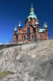 Uspenski Cathedral, 19th-century Eastern Orthodox church building in Helsinki. Finland stock photography