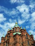 Uspenski Kathedrale in Helsinki, Finnland Lizenzfreies Stockbild