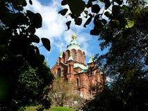 Uspenski Kathedrale in Helsinki, Finnland Stockbilder