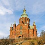 Uspenski Oostelijke Orthodoxe Kathedraal in Helsinki finland stock foto