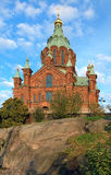 Uspenski Orthodox Cathedral in Helsinki, Finland Royalty Free Stock Photo