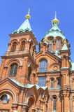 Uspenski Orthodox cathedral, in Helsinki, Finland. Royalty Free Stock Photography