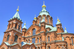 Uspenski Orthodox cathedral, in Helsinki, Finland. Royalty Free Stock Image