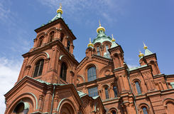 Uspenski Orthodox Cathedral in Helsinki Royalty Free Stock Photo