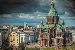 Uspenski Orthodox Church in Helsinki Finland Royalty Free Stock Images