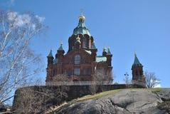 Uspenski Orthodoxe Kerk, Helsinki Stock Foto