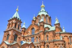 Uspenski ortodox domkyrka, i Helsingfors, Finland. Royaltyfri Bild