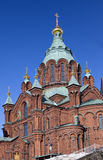Uspenski ortodox kyrka i Helsingfors, Finland, Europa Royaltyfri Fotografi