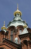 Uspenski Russian Orthodox cathedral, Finland Stock Photos