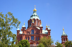 Uspenski Russian Orthodox Church. Helsinki Royalty Free Stock Image