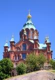 Uspenski Russian Orthodox Church. Helsinki Royalty Free Stock Photography