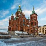 Uspenskikathedraal in de Winter Royalty-vrije Stock Afbeeldingen