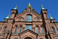 Uspenskikathedraal in Helsinki royalty-vrije stock fotografie