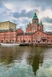 Uspenskikathedraal in Helsinki stock foto