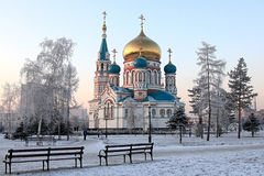 Uspenskiy cathedral. Stock Photo