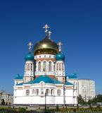 Uspenskiy Cathedral.Omsk.Russia. Uspenskiy Cathedral is in  the world temple culture catalogue Stock Photos