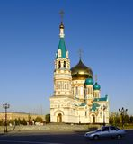 Uspenskiy Cathedral.Omsk.Russia Stock Photography