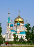 Uspenskiy Cathedral.Omsk.Russia image stock