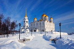 Uspenskiy cathedral  at Vladimir in winter Royalty Free Stock Images